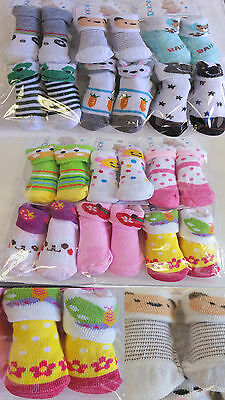 Infant Newborn Baby 0-6 Months Turn Cuff Solid Crew Socks LOT 12 PAIR BOYS GIRLS