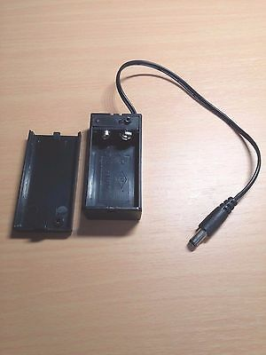 9V PP3 Battery Box With Wire Lead and ON/OFF Switch + DC 2.1mm Plug