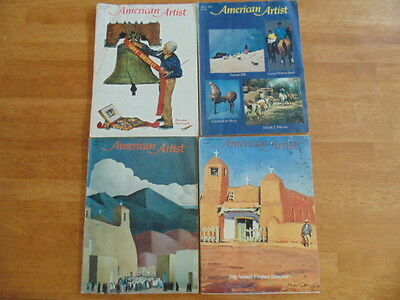 Vintage Lot of American Artist Magazines (4) From the 1970's