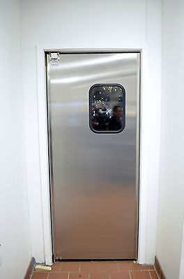 "30""x84""  Stainless Steel Restaurant Kitchen Door NEW Swinging Traffic Doors"