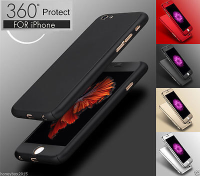 Case Cover for Apple Iphone 7 7+ 6 6 Plus with Tempered Glass Screen Protector