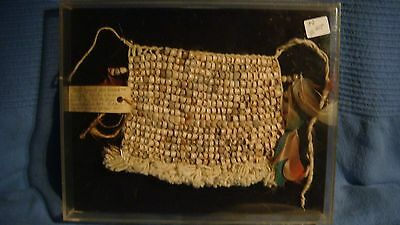 Antique Tanga Wai Wai  Tribe apron of seed beads ARTINDIA Funai Brazilian