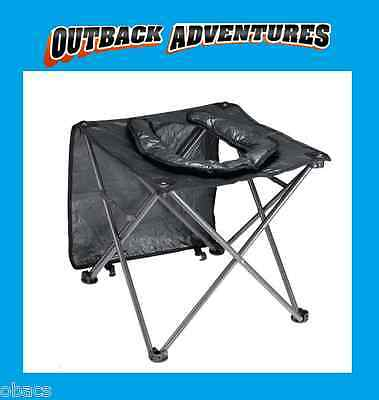 Oztrail Folding Toilet Chair Portable Camping Seat Hiking