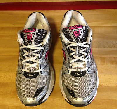 Womens Saucony Cohesion 5 Pink White,silver Athletic Shoes Size 8