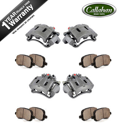Front+Rear Brake Calipers And Pads For 2000 2001 - 2004 Ford Excursion F250 F350