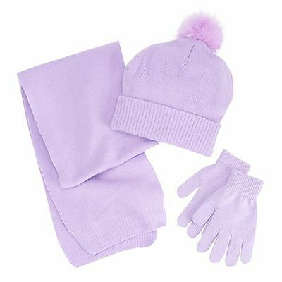 NWT Berkshire Girls' 3-Pc Infinity Scarf Hat & Gloves Set