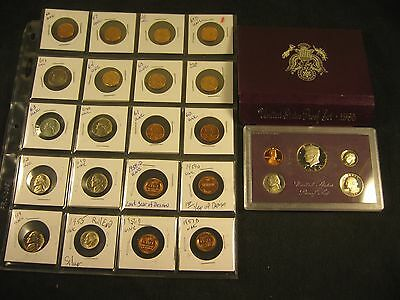 20-New Uncirculated Coins 1955~1969 Has 1955 Silver Dime! With 1985-S Proof Set