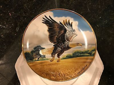 Amber Waves Of Grain American Bald Eagle Franklin Mint Heirloom Decorative Plate
