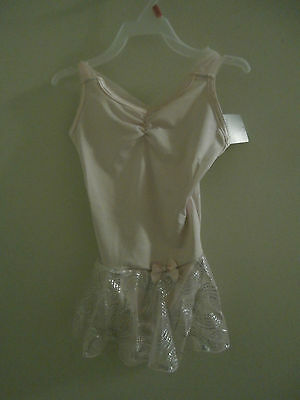 Girls New Nwt Pink Dance Leotard With Attached Skirt  Size S 6 6X Ballet
