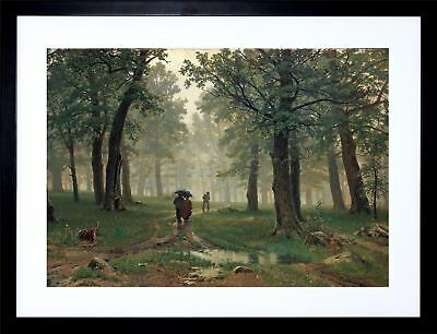 Painting Shishkin Rain An Oak Forest Old Framed Print Picture F12X446
