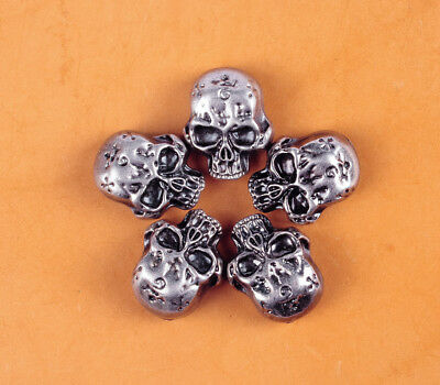 32X26MM 10pcs Skull Head Floral Rivetback Concho Antique Silver for Saddle Bag