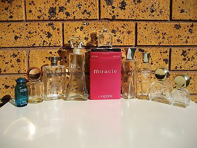 Exiting Lot of 9 Vintage Perfume Bottles Collectable Matchabelli Lancome Faberge