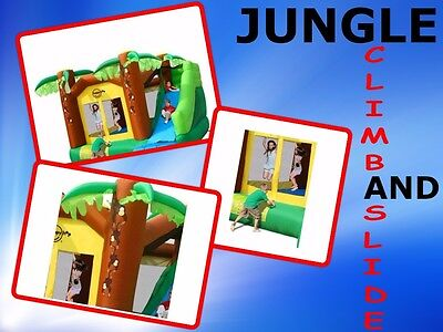Jungle Climb & Slide Jumping Castle HAPPY HOP 9164