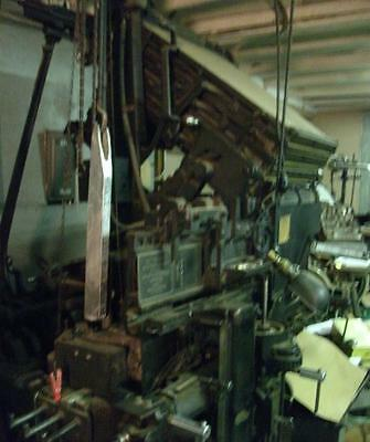 2  Mergenthaler Linotypes  ( 5 to 14 &  24 to 30 point) and Hammond Easy Kaster