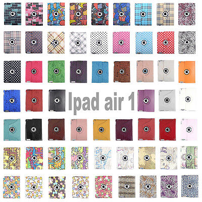 """For Apple  9.7""""iPad AIR2 360 Rotating Folio Leather Ultra Smart Stand Case Cover"""