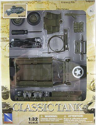 NEWRAY CLASSIC TANK MODEL KIT - M3A2 HALF TRACK PERSONNEL - 1:32 Scale - WWII