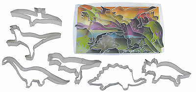 Dinosaur Shaped Cookie Shape Cutters - T-Rex Triceratops Stegosaurus