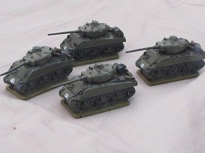15mm Painted WW2 US American Sherman Tanks FOW Flames of War 1/100