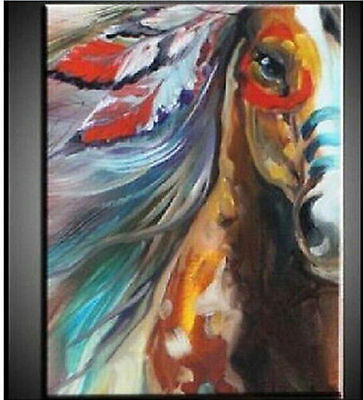 2017HOT-Hand-painted Abstract Oil Painting Horse Canvas Wall Art Decor No Framed