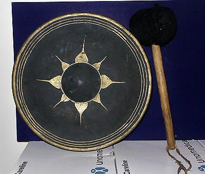Antique chinese bronze gong