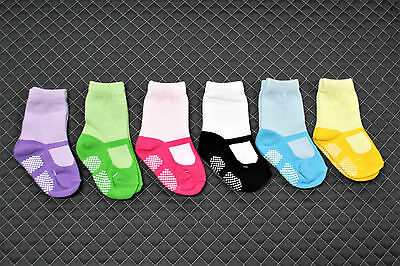 Toddler Shoe look Socks - Mary Jane style for girls - 6 PAIRS