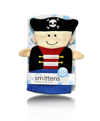 Smittens Pirate Captain Cotton Bath Mitt Baby Kids Wash Cloth
