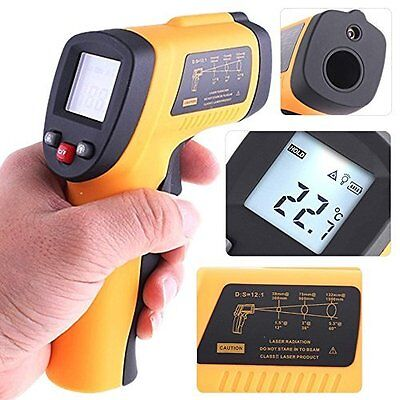 Non-Contact Thermometer Digital Professional Grade Infrared w/ Laser Point