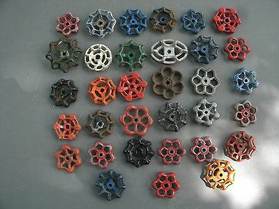 33 Valve Handle Water Faucet Knobs STEAMPUNK Hardware Industrial Wall  ART Craft