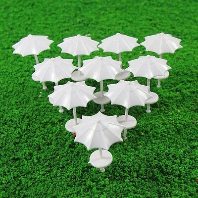 TYS12075 10pcs Modelleisenbahn Sun Umbrella Parasol Garden Sea Beach 1:75 SpurOO