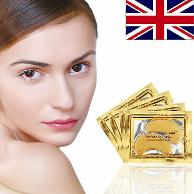 Gold Collagen Under Eye Mask Anti Wrinkle Bag Dark Circles Ageing Crystal Eyelid