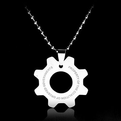 Stainless Steel Gear Pendant Necklace Hot Game Link Chain Jewelry for Men Women