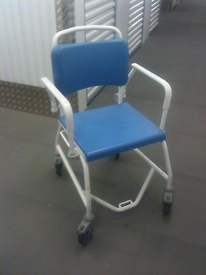 Luxury mobile concealed commode / shower chair