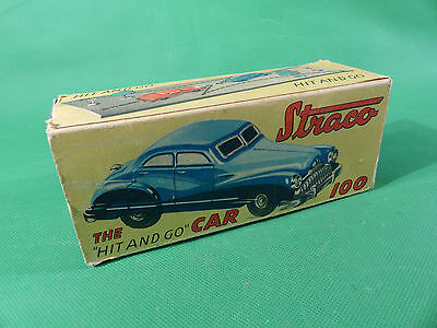 1950's Gama Export Straco  100 Uhrwerk Auto aus Blech / Tinplate US Zone - boxed