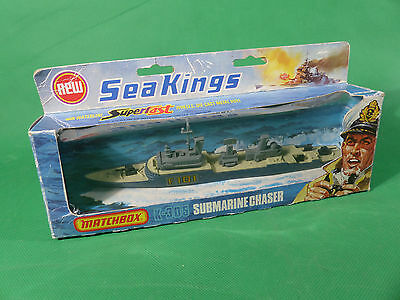 Matchbox Seaking K-305 Submarine Chaser Military Series Diecast MIB - NOS