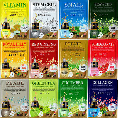 16 Type Korea Cosmetic Ultra Hydrating Facial Essence Mask Sheet Pack 3,9,18 set