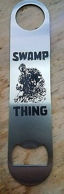 Swamp thing stainless steel bottle opener/church key