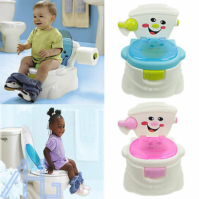 Hot Pink Toddler Potty Training Seat Baby Kids Fun Toilet Trainer Chair Bathroom