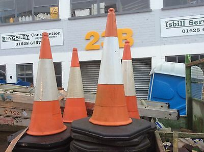 Traffic Cone, Dominator, Red And White 1M
