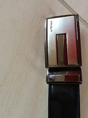 New Mens Leather Belt Black 46inches