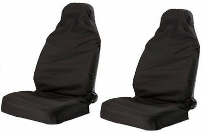 Kabalo Universal Heavy Duty Car Van Front Black Seat Covers Protectors Muddy