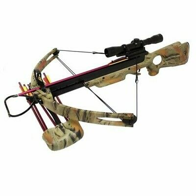 Spider 150lb Compound Crossbow 4x32 Scope + 8 x Arrows + Cocking Rope + Quiver