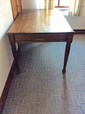 Lovely Antique Oak Farmhouse Table With Drawers at each end.