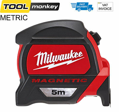 Milwaukee 48227216 5m Metric Only Next Gen Magnetic Tape Measure Magnetic Hook