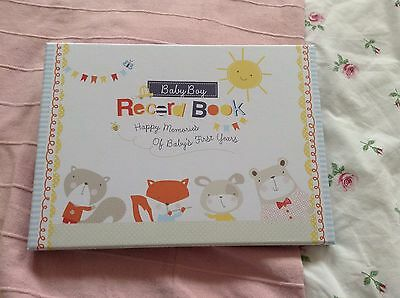 Baby Boys Record Book With Box Brand New Gift