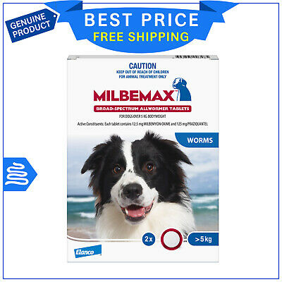 Milbemax Allwormer for Large Dogs 5 to 25 Kg 2 Tablets Dog worm treatment