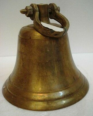 BRASS Bell - Marine / Religion / Spiritual - Height: 10 - Weight:4.15 (1307)