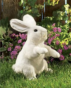 Standing White Rabbit Hand Puppet by Folkmanis - 2868