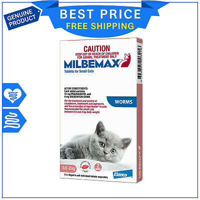 Milbemax Allwormer For Small Cats 0.5 to 2 Kg 2 Tablets Cat Worm treatment