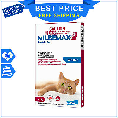 Milbemax Allwormer For Large Cats Over 2 Kg 2 Tablets Cat Worm treatment