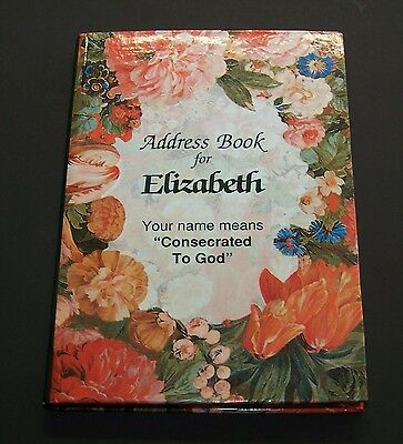 "Address Book Elizabeth Personalized Flowers Floral 4"" Mini NEW"
